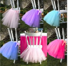 Any Color Chair Decor TUTU Skirt Wedding Table Chair Decoration for Parties XMAS image 1