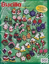 Bucilla Frosty Favorites - Set of 50 Felt Ornaments - #84073 - $58.40
