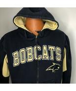 Montana State University Bobcats Small Zip Hoodie Blue Beige Vintage   - $39.59