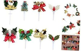 8pcs Cute Cake Cupcake Decorative Cupcake Topper for Christmas Themed P... - $12.32