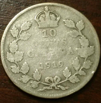 1919 Canada 10 Cent Silver Coin #768 - $6.46