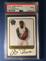 2001 Fleer Greats Of The Game Vida Blue Autographed PSA 9 MINT - $19.29
