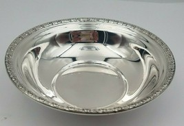Vintage Sterling Silver Candy or Nut Bowl w/ Floral Edge #6553 - $85.00