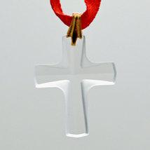 Swarovski 20mm Crystal Frosted Cross Prism image 1