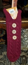 Kohl's Celebrate Fall Sweater Wooden Buttons Wine Cover - $9.50