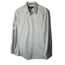 Croft & Barrow Men's Button Down Shirt ~ Sz 16 (32/33) ~ White ~ Plaid ~... - $24.74