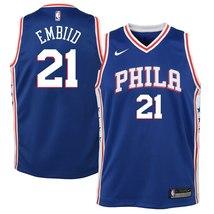 Nike NBA Youth Joel Embiid Philadelphia Sixers Official Swingman Jersey ... - $39.99