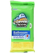 Scrubbing Bubbles Flushable Bathroom Wipes, 28 Count, Pack of 3 - $17.56