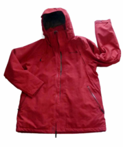 MERRELL Opti-Shell / Opti-Warm Jacket Womens Large Removable Hood Red Pl... - $35.00