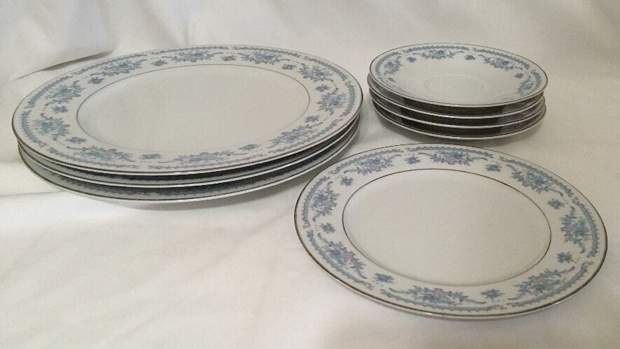 Winsford Ekco Fine China Blue And Pink Japan Plates Saucers image 5