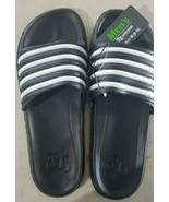 OT Revolution Boys Rubber Sandals/Slides- Black/White, Size Boys 13 - $8.81