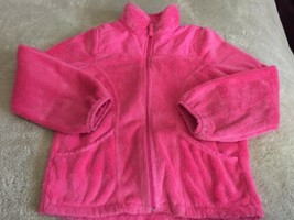 Children's Place Pink Fuzzy Thick Fleece Winter Coat Medium 7-8 - $9.28