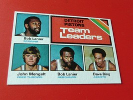 1975  PISTONS  TEAM  LEADERS   #121  TOPPS    NEAR  MINT /  MINT  OR  BE... - $29.99