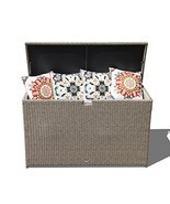 Orange Casual Patio Aluminum Frame Resin Wicker Storage Bin Deck Box 140... - $185.92