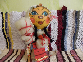 Handmade  Dry Gourds .Folk Costume Doll Traditional Bulgarian Clothing  ... - $67.00