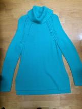 Talbots Aqua Lambswool Turtleneck Sweater Size M - $19.80