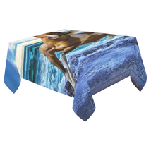 New Design Custom Horse Table Desk Cover Cloth Printed Cotton Linen Tabl... - €76,53 EUR