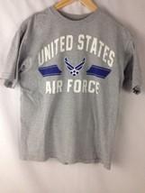 United States Air Force T-Shirt Medium Gray USA Unisex Bayside Tee - $19.60