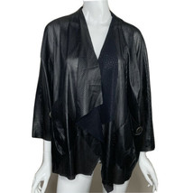 IC By Connie K Jacket Size Large Black Mesh Made in USA - $29.99