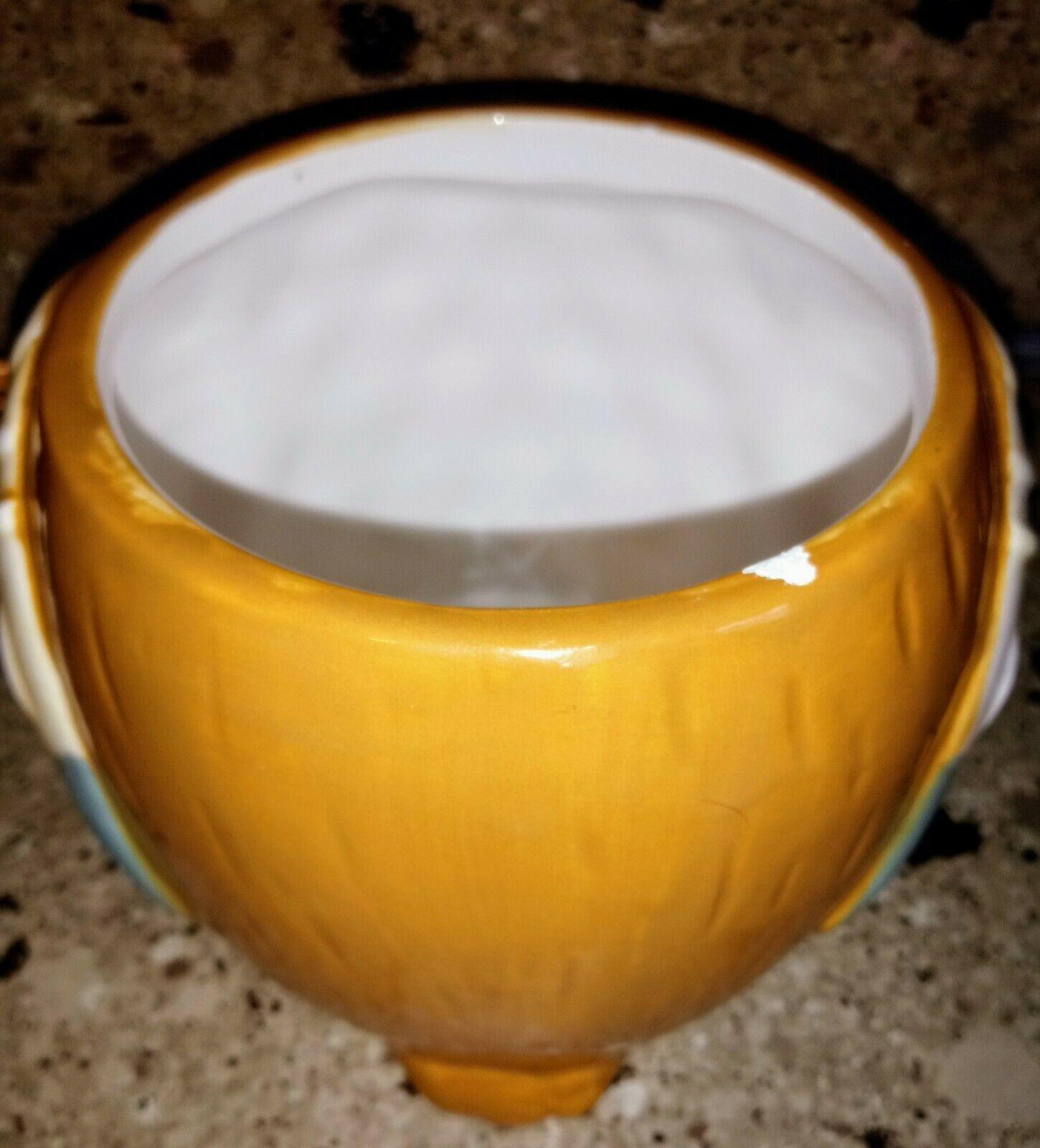 Harvest Owl Candy Jar Canister Ceramic
