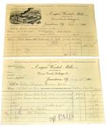 2 1901 EMPIRE WORSTED MILLS Jamestown NY Antique Billheads Receipts Dres... - $9.99