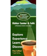 GREEN MOUNTAIN COFFEE VISITOR CENTER & CAFE WATERBURY VERMONT /FREE COFF... - $4.95