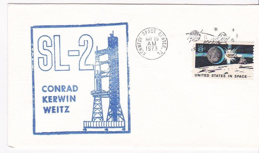 SL-2 CONRAD-KERWIN-WEITZ RUBBER STAMP CACHET KENNEDY SPACE CENTER, FL 5/25/1973
