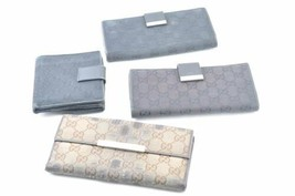 GUCCI GG Canvas Wallet 4 Set Black Brown Auth 6871 - $99.00