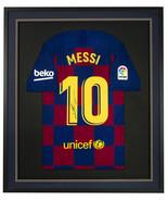 Lionel Messi Signed Framed FC Barcelona Soccer Jersey Messi LOA - $989.99