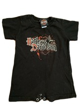 Harley-Davidson Bike Baby Infant 18 Month One Piece Outfit 2010 Black 3 ... - $7.69