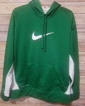 Nike Therma Fit Hoodie Pullover Size Kid's Large Green White Mesh Vented... - $21.33