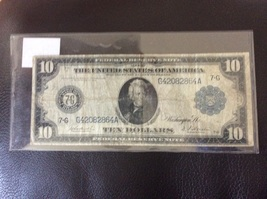 1914 Federal Reserve Ten Dollar Note - $90.00