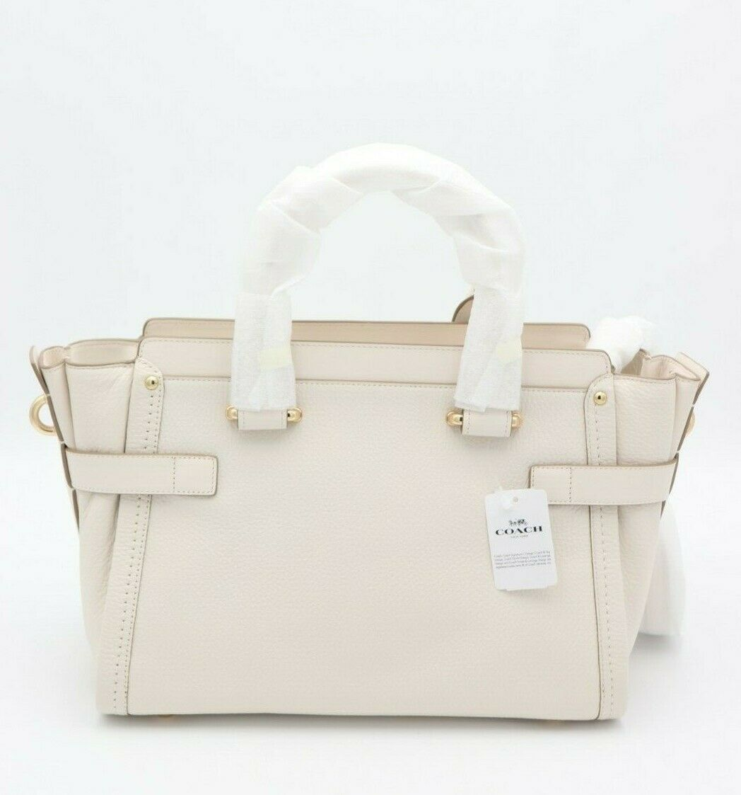 NWT COACH Swagger Chalk Nubuck Pebble Leather Carryall Convertible Bag $550 New