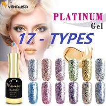 Venalisa Supply Nail Art 12ml Supper Diamond Shining Glitter Platinum Paint Gel - $4.99+