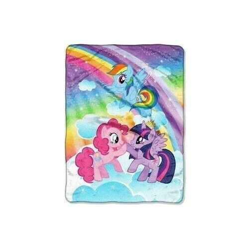 Primary image for My Little Pony Girl's Super Plush Warm & Cuddly Multicolor Throw 46x60