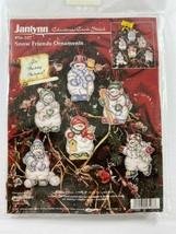 1997 Janlynn Christmas Snow Friends Cross Stitch Ornaments Kit  56-107 - $19.79
