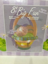 INFLATABLE EASTER BASKET 8 ft Wide Outdoor Yard Decoration Large Lighted... - $188.08