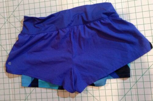 Primary image for Champion Double Layer Athletic Running Shorts Purple Large Women