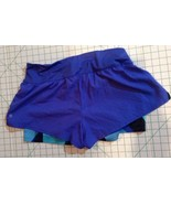 Champion Double Layer Athletic Running Shorts Purple Large Women - $10.89