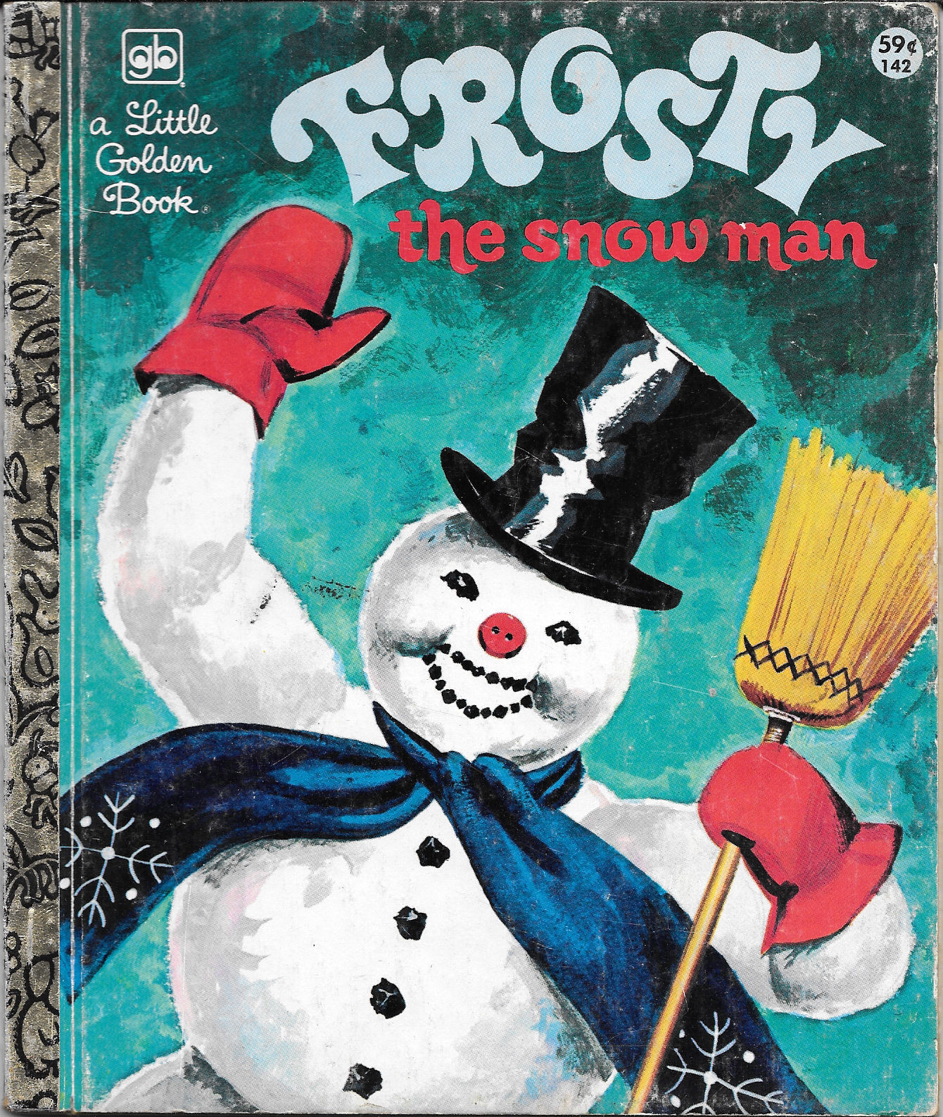 Primary image for FROSTY THE SNOWMAN (1978) Little Golden Book EXCELLENT!