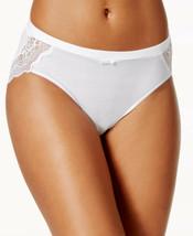 Bali Cotton Desire Sheer Lace Hipster Underwear WHITE SIZE XL/8 - $11.88