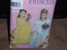 Simplicity 9902 Toddlers and Child's Dress Disney Belle and Ariel Costumes   Siz - $30.00