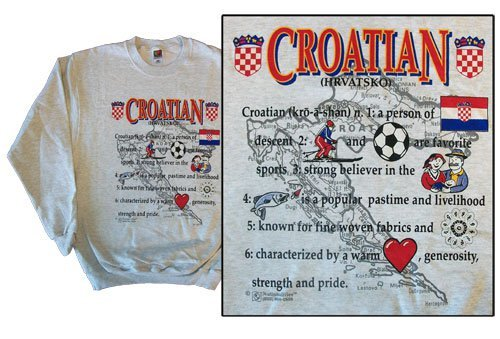Croatia national definition sweatshirt 10268