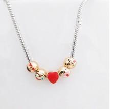 Emoji Emojicon 5 bead necklace Euro style clasp NWOT - $11.99