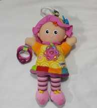 Lamaze Clip & Go My Friend Emily Crib Carriage Rattle Crinkle Toy  EUC - $8.59