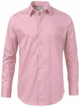 Men's Solid Long Sleeve Formal Button Up French Convertible Cuff Dress Shirt image 15