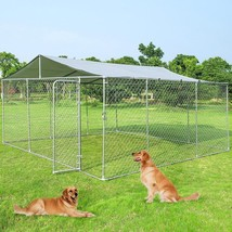 15' x 15' Large Pet Dog Run House Kennel Shade Cage-Kennel - $161.01