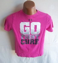 "Under Armour - Girl's Raspberry ""Fight Cancer"" Heat Gear T-Shirt - Size YMD/JM - $10.95"