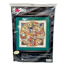 Bucilla It's About Time Counted Cross Stitch 41785 with Charms Nanci Rossi - $58.40