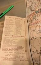 Walker & Co. Antique 1903 Lot Brookline Boston Road Map Cyclist Iver Johnson image 2